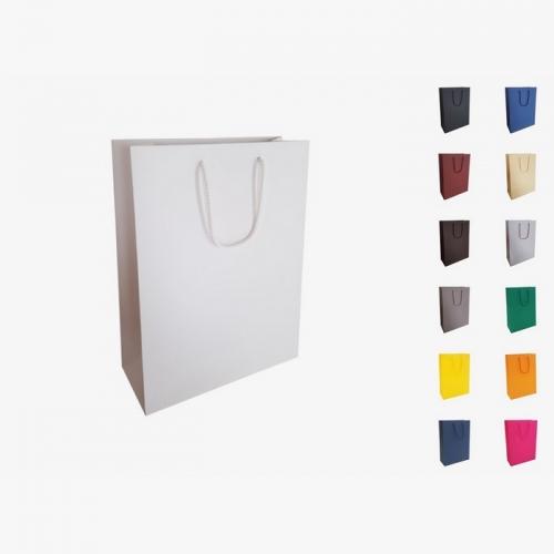 Papīra maisiņi A4 ar auduma rokturiem ar apdruku (cena bez logo)