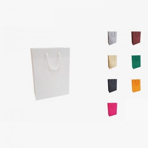 Papīra maisiņi A5 ar auduma rokturiem ar apdruku (cena bez logo)