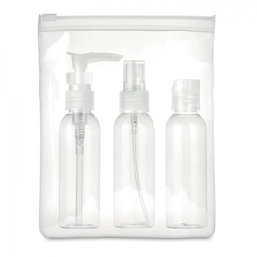 Ceļojuma maisiņš ar 3 pudelēm ar apdruku (cena bez logo)