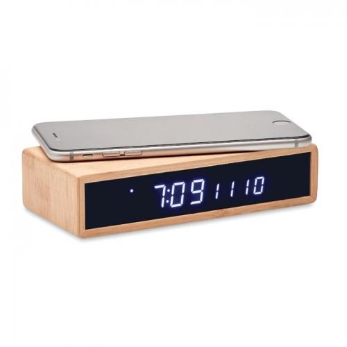 Bezvadu lādētājs-pulkstenis Boto ar apdruku (cena bez logo)