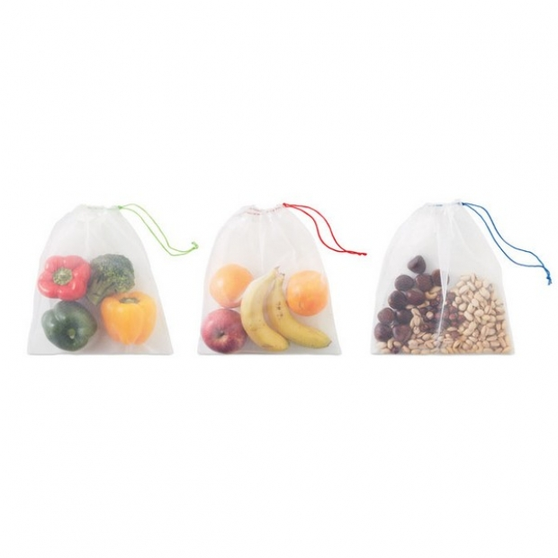 Atkārtoti lietojami augļu vai dārzeņu maisiņu komplekti ar apdruku (cena bez logo)
