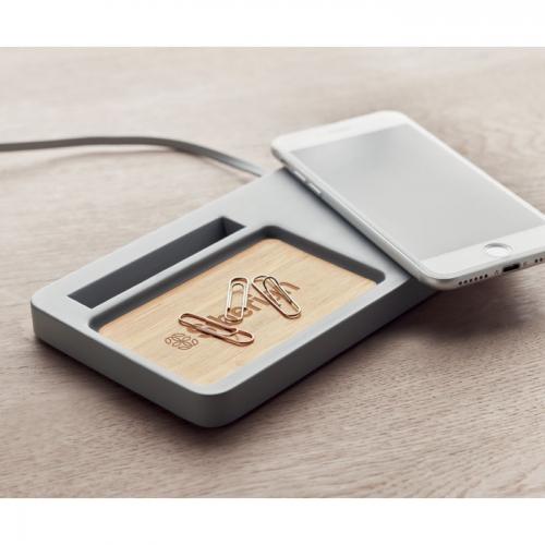 Bezvadu lādētājs-galda organizators Baivi ar apdruku (cena bez logo)