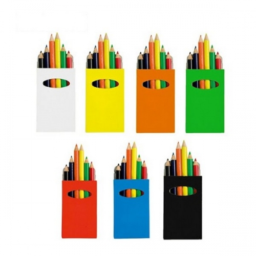 6 krāsaino zīmuļu komplekti ar apdruku (cena bez logo)