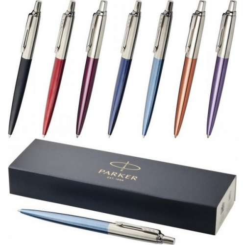 Parker lodīšu pildspalva Jotter Bond Street ar zilu tinti ar apdruku (cena bez logo)