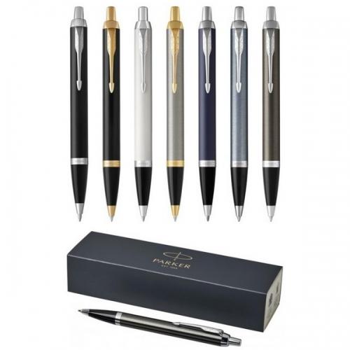 Parker lodīšu pildspalva IM ar zilu tinti ar apdruku (cena bez logo)
