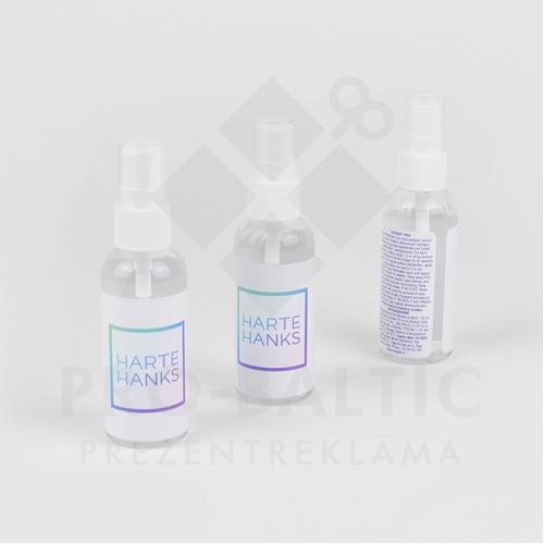 Dezinfekcijas līdzekļi rokām 50 ml ar smidzinātāju ar apdruku