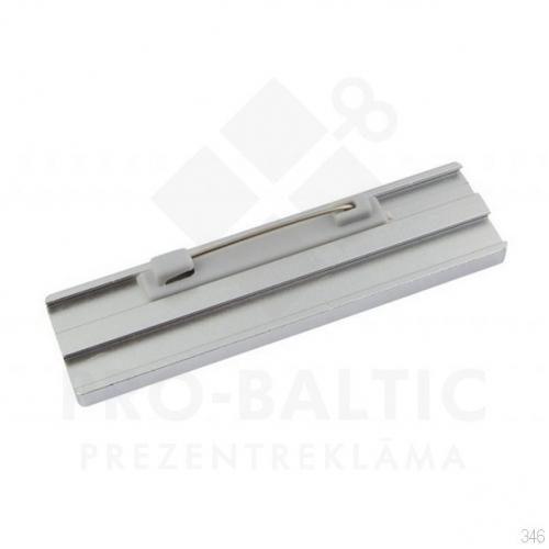 Nozīmītes 75x20 mm ar adatas stiprinājumu ar apdruku (cena bez logo)