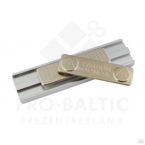 Nozīmītes 75x20 mm ar magnēta stiprinājumu ar apdruku (cena bez logo)