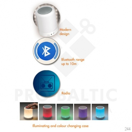 Bluetooth skaļrunis ar gaismu