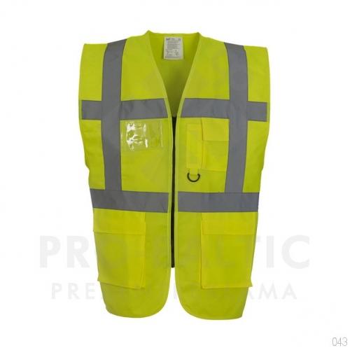 Atstarojošās vestes Fluo ar rāvējslēdzi ar apdruku (cena bez logo)