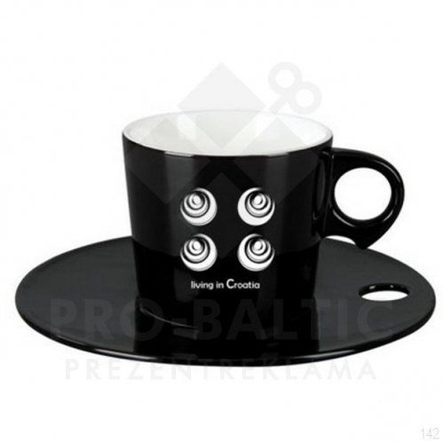 Cups with saucers Flosy with imprint 150 ml. (price without logo)