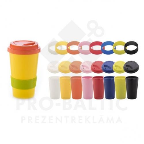 Daudzkrāsainas termokrūzes 400 ml ar apdruku (cena bez logo)