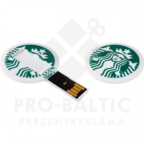 * Apaļa kredītkartes formas USB atmiņa DUSCC05