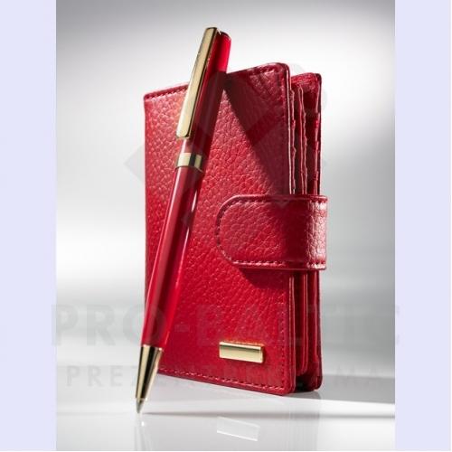 Colorissimo maka Martine un Verazza zelta lodīšu pildspalvas komplekts ar logo