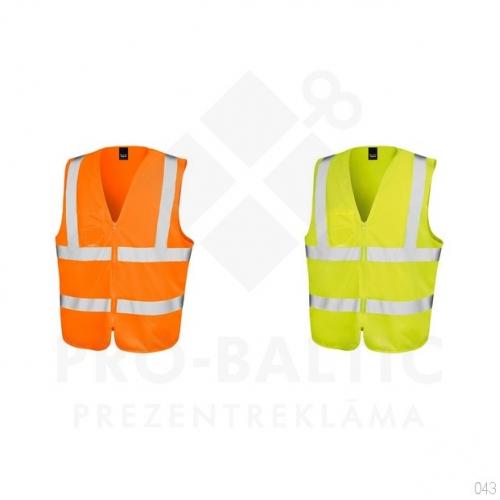 Atstarojošās vestes ar rāvējslēdzi ar apdruku (cena bez logo)