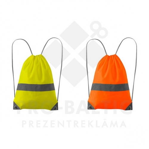Sporta mugursomas ar atstarojošu joslu ar apdruku (cena bez logo)