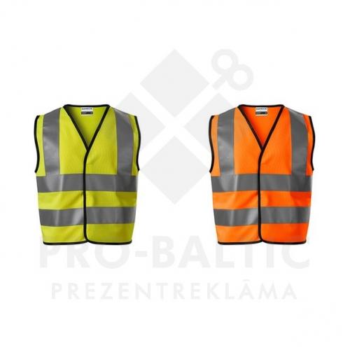 Bērnu atstarojošās vestes ar apdruku (cena bez logo)