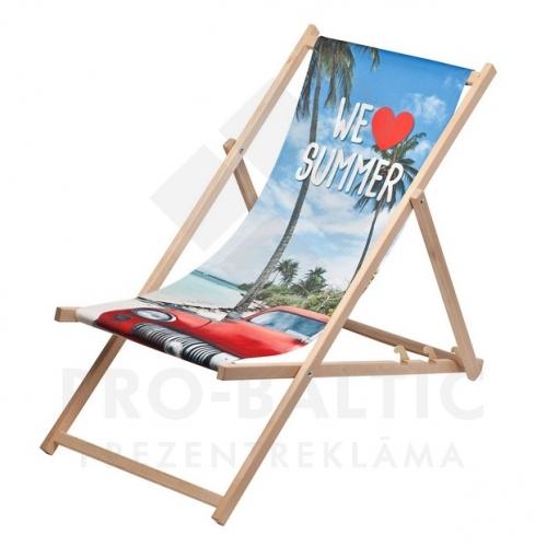 Koka krēsls Chill ar apdruku