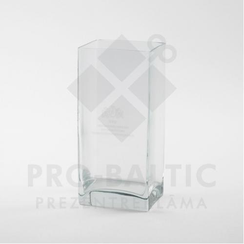 Stikla vāze ar gravējumu