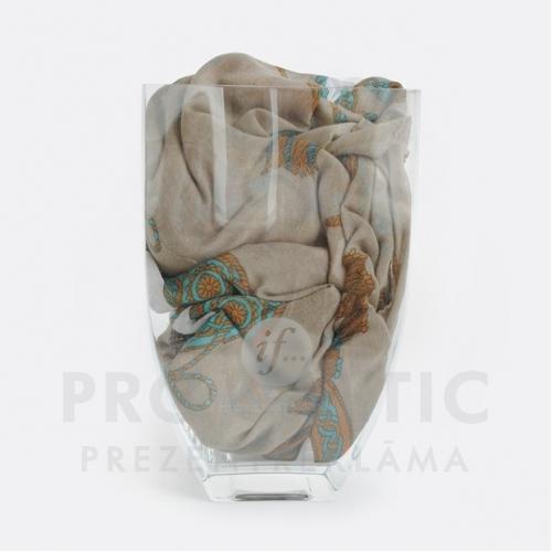 Stikla vāze ar druku