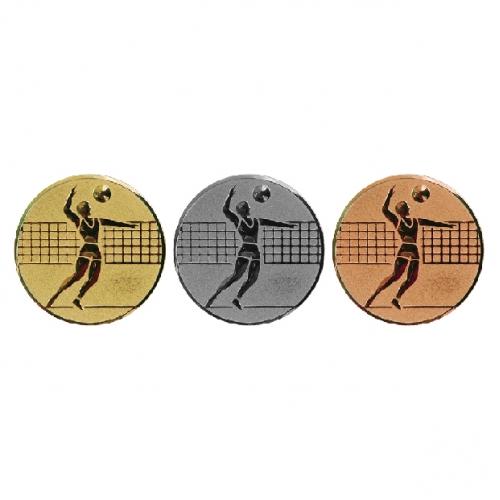 Medaļas centrs 25 mm, Vīriešu volejbols